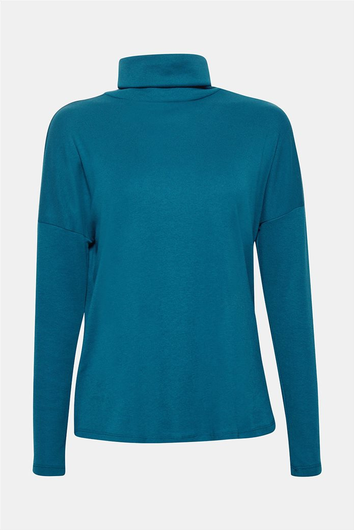 Esprit γυναικεία μπλούζα μονόχρωμη ζιβάγκο Α line 8