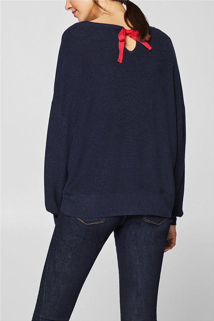 Esprit γυναικεία πλεκτή μπλούζα με φιόγκο στην πλάτη 4
