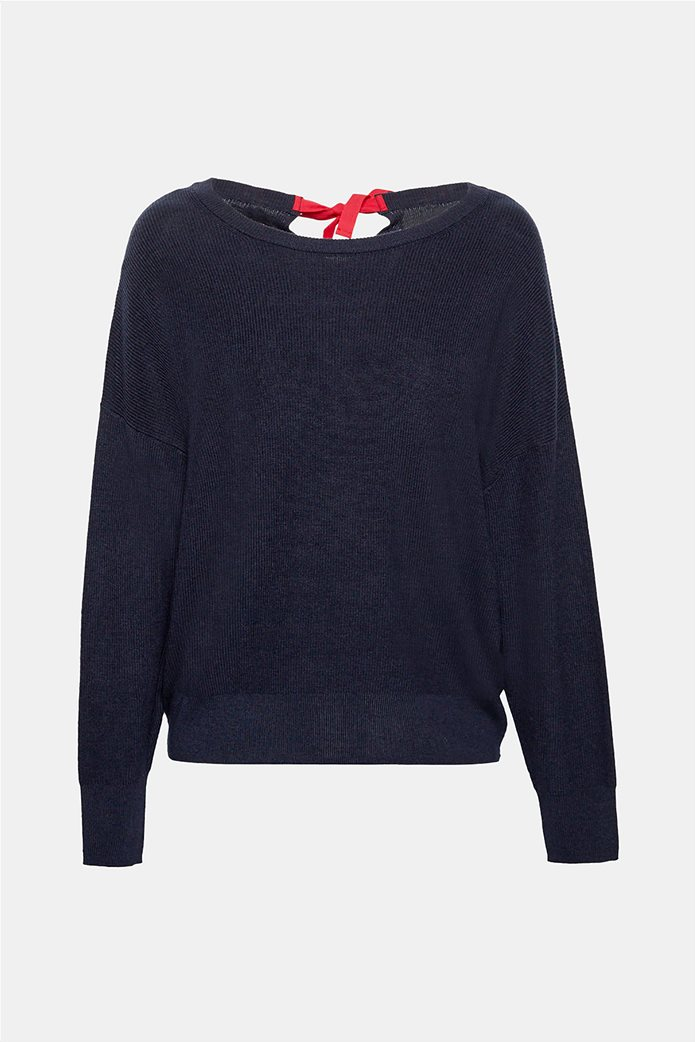 Esprit γυναικεία πλεκτή μπλούζα με φιόγκο στην πλάτη 7