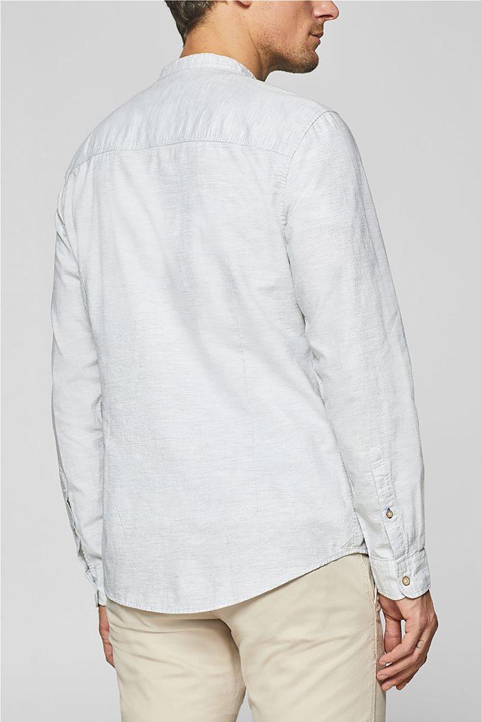 1a60998b9e4c Esprit ανδρικό μονόχρωμο πουκάμισο με μάο γιακά και τσέπη 3