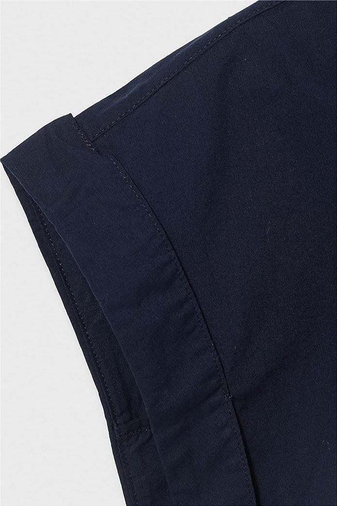 Esprit γυναικείο κοντομάνικο πουκάμισο μονόχρωμο Σκούρο Μπλε 3