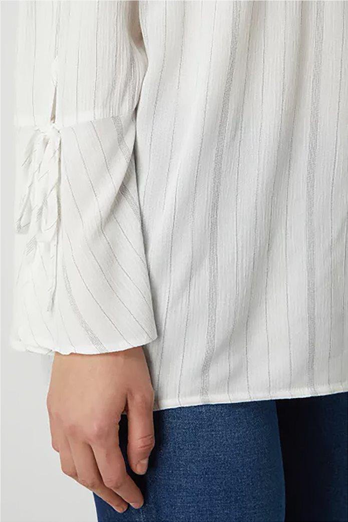 Esprit γυναικεία ριγέ μπλούζα carmen Λευκό 3