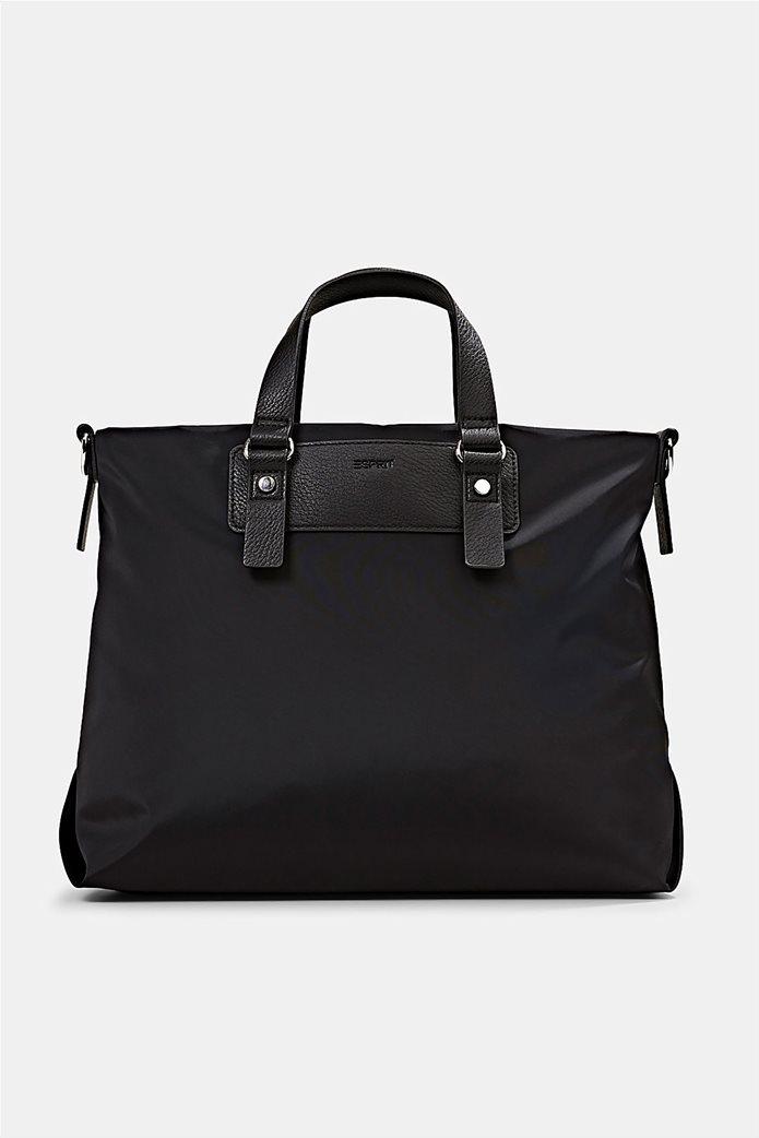 Esprit γυναικεία τσάντα χειρός με μεταλλικές λεπτομέρειες Μαύρο 0