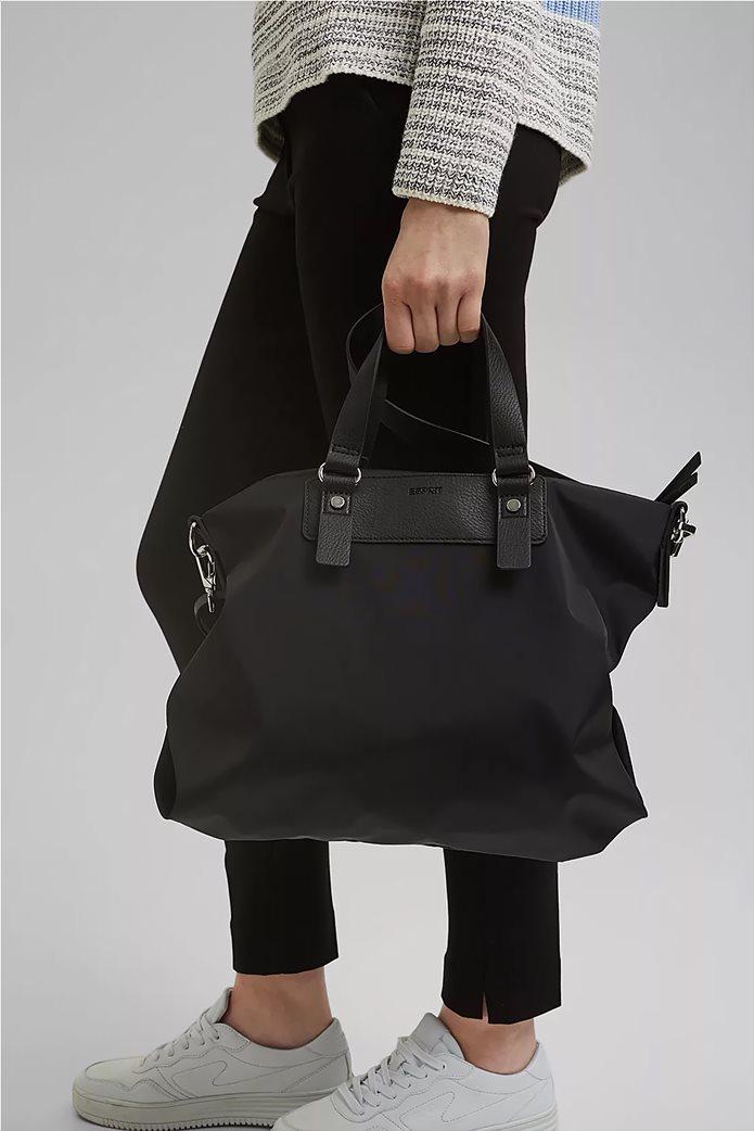 Esprit γυναικεία τσάντα χειρός με μεταλλικές λεπτομέρειες Μαύρο 1
