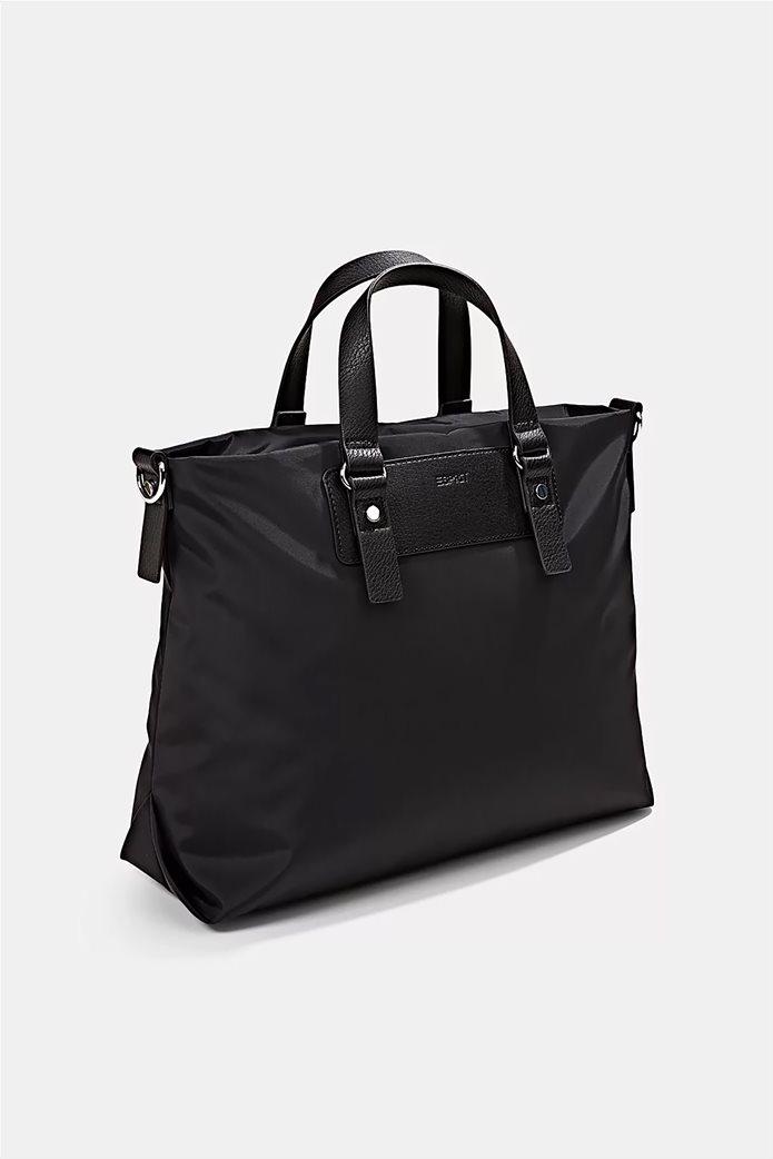 Esprit γυναικεία τσάντα χειρός με μεταλλικές λεπτομέρειες Μαύρο 2