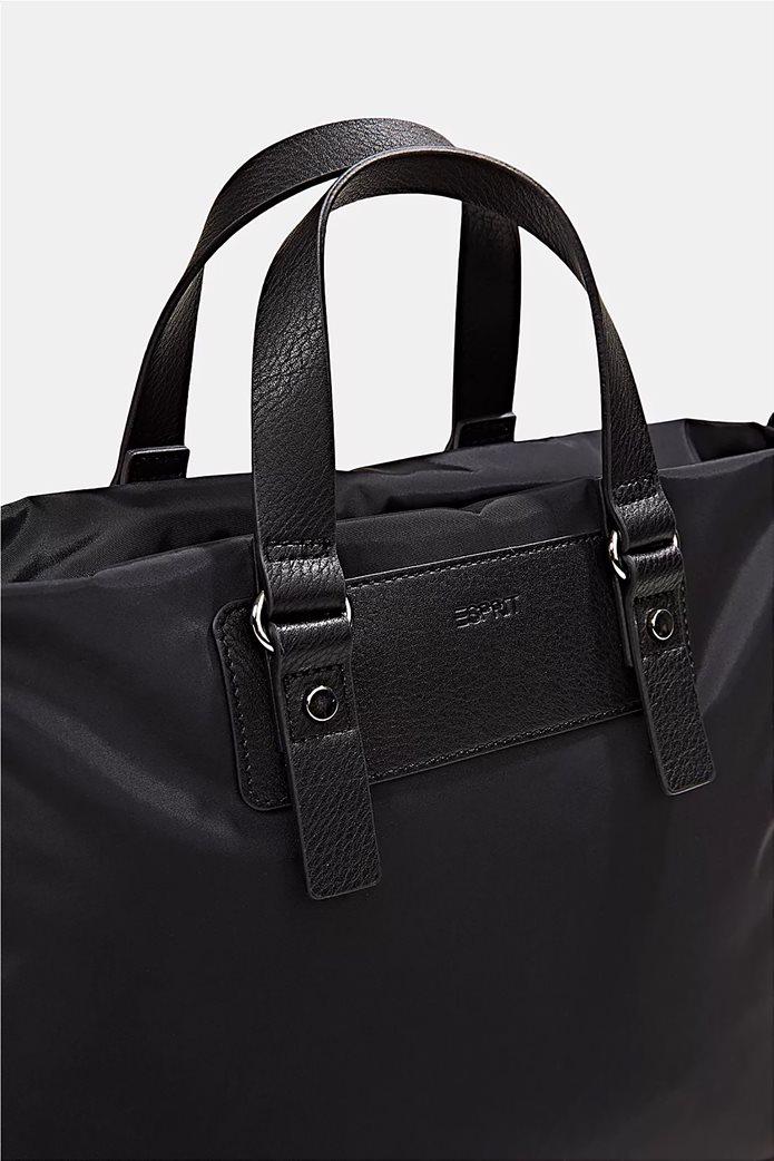 Esprit γυναικεία τσάντα χειρός με μεταλλικές λεπτομέρειες Μαύρο 3