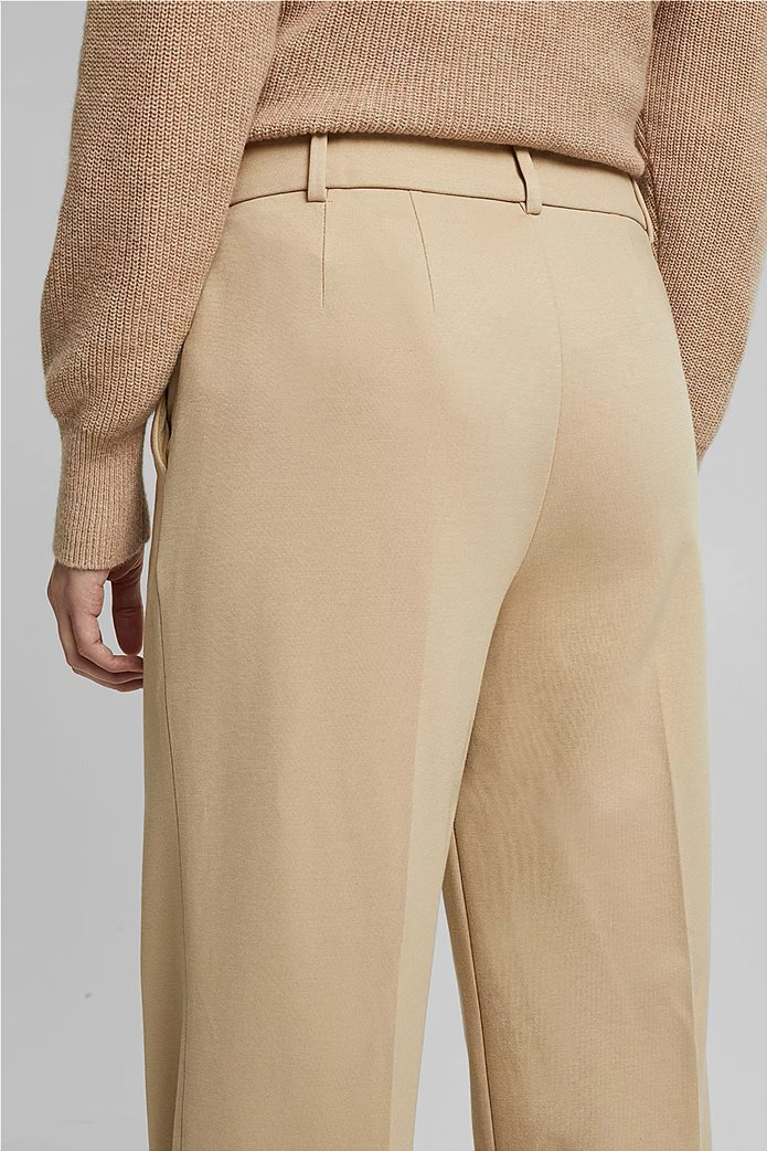 Esprit γυναικείο cropped παντελόνι ψηλόμεσο Μπεζ 2