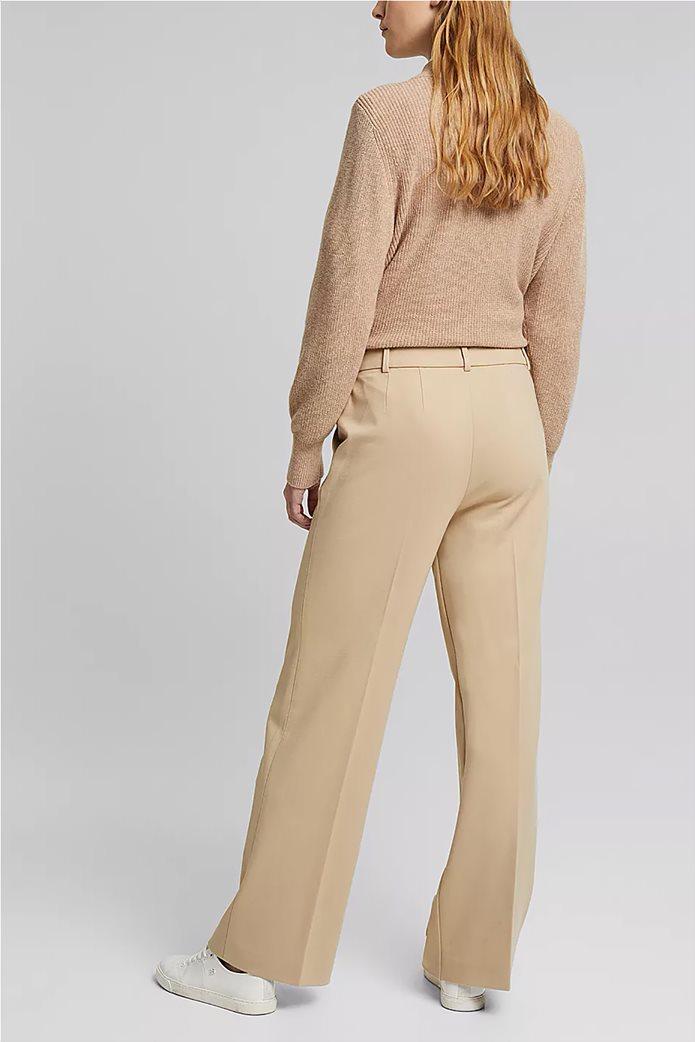 Esprit γυναικείο cropped παντελόνι ψηλόμεσο Μπεζ 3