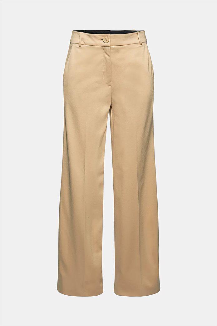 Esprit γυναικείο cropped παντελόνι ψηλόμεσο Μπεζ 5