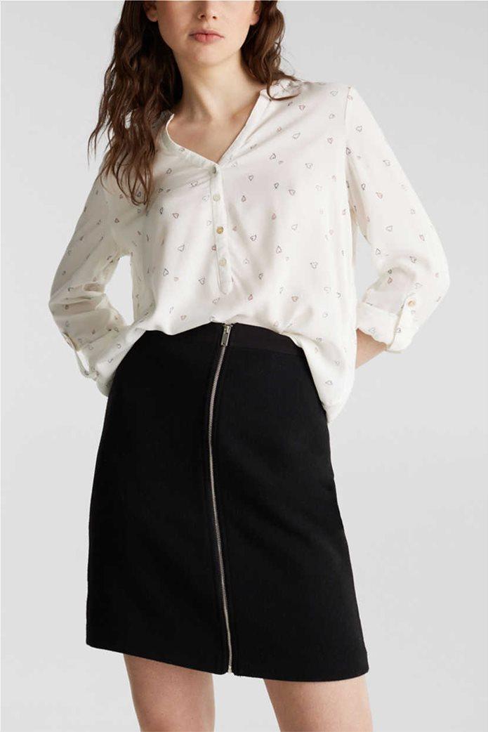 Esprit γυναικείο ριγέ πουκάμισο με μικροσχέδιο καρδιές 0