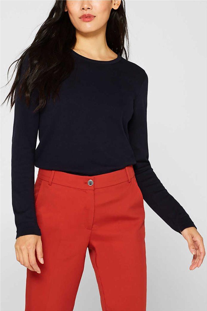 Esprit γυναικεία πλεκτή μπλούζα μονόχρωμη 0
