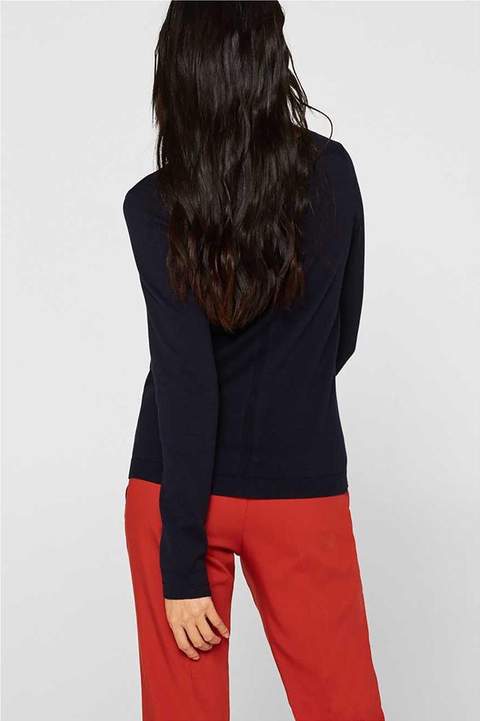 Esprit γυναικεία πλεκτή μπλούζα μονόχρωμη 1