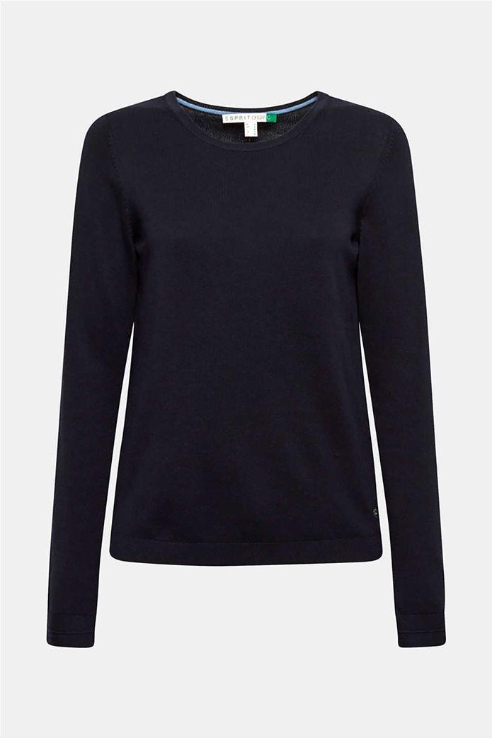Esprit γυναικεία πλεκτή μπλούζα μονόχρωμη 3