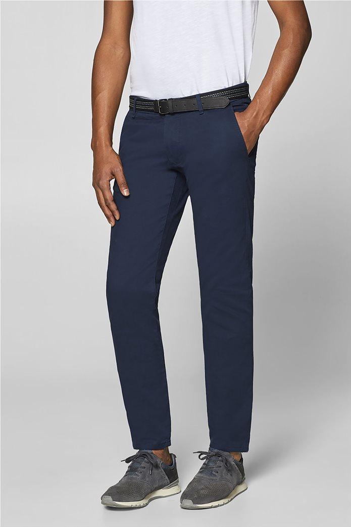 Esprit ανδρικό παντελόνι chino slim με ζώνη (32L) 0