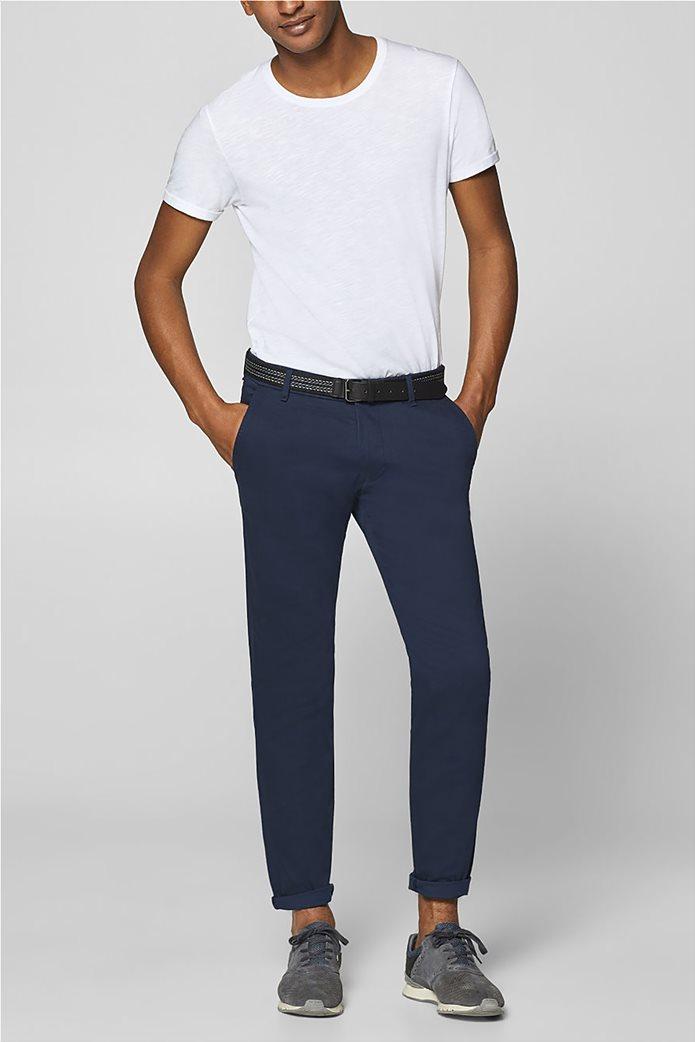Esprit ανδρικό παντελόνι chino slim με ζώνη (32L) 1