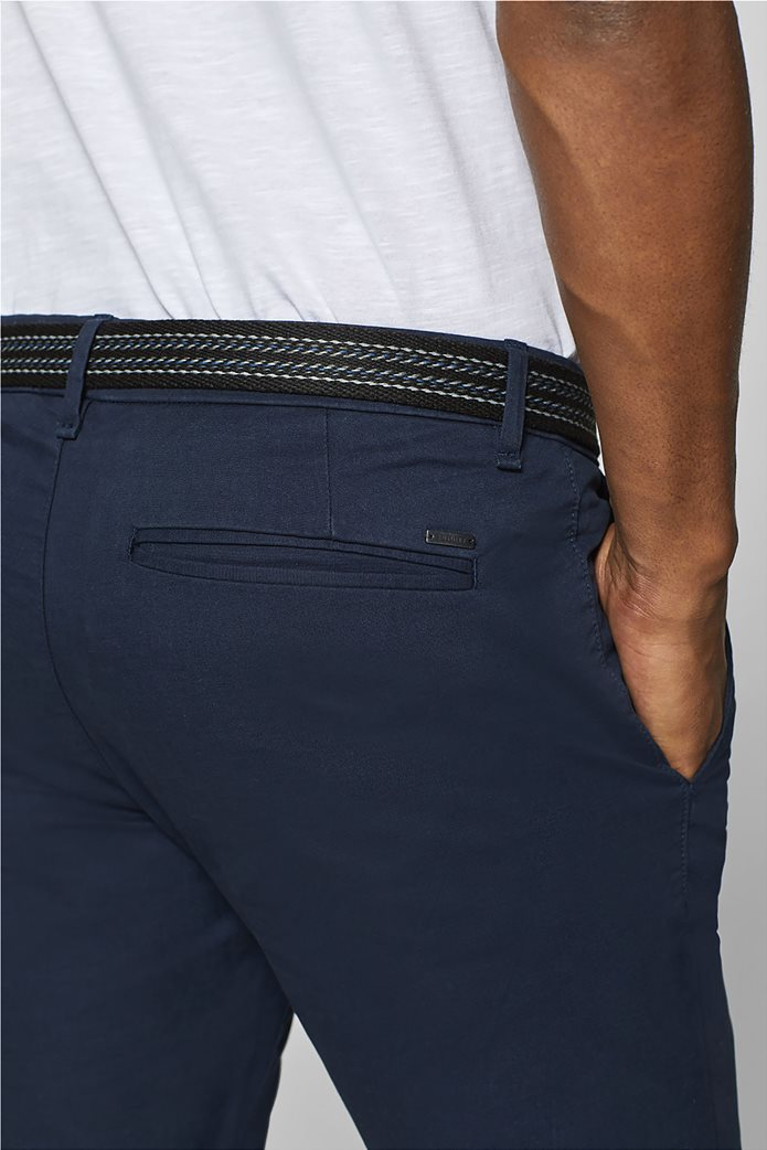 Esprit ανδρικό παντελόνι chino slim με ζώνη (32L) 2