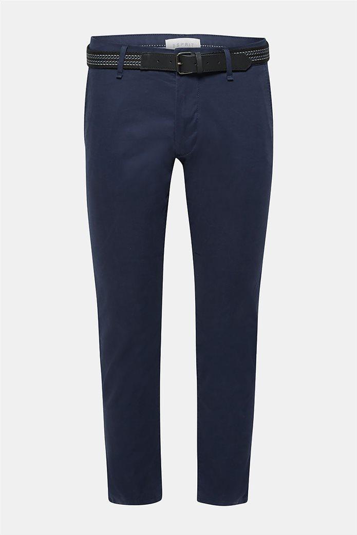 Esprit ανδρικό παντελόνι chino slim με ζώνη (32L) 6