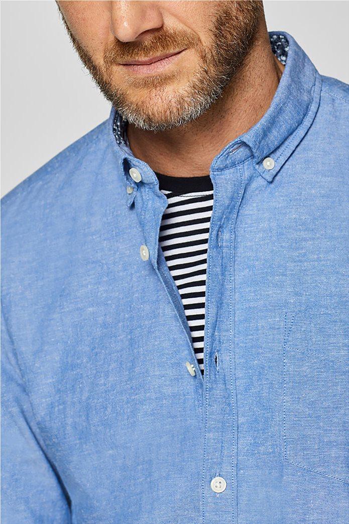 Esprit ανδρικό λινό πουκάμισο με τσέπη 2