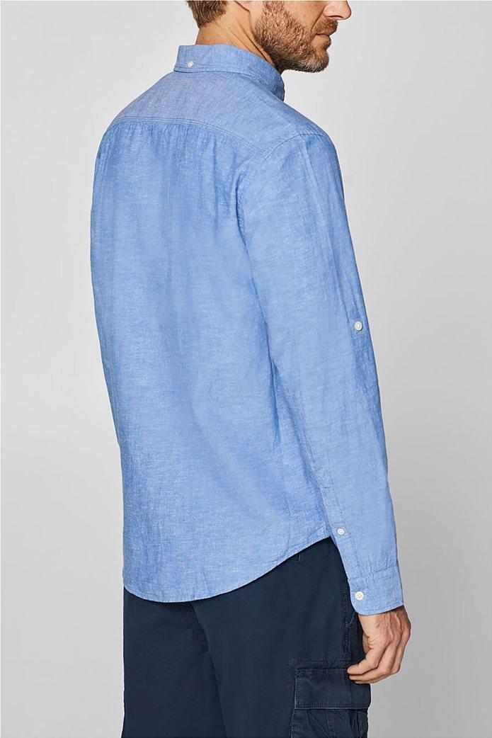 Esprit ανδρικό λινό πουκάμισο με τσέπη 3