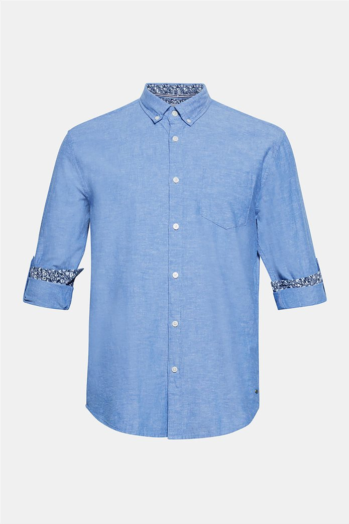 Esprit ανδρικό λινό πουκάμισο με τσέπη 7