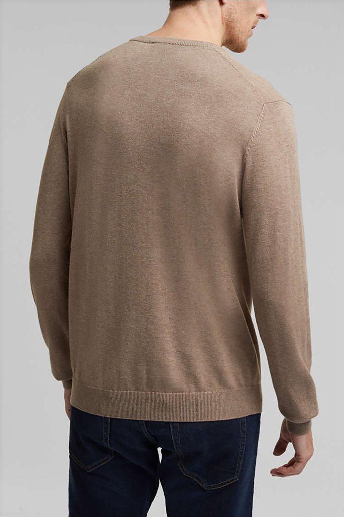 Esprit ανδρική μπλούζα πλεκτή μονόχρωμη 3
