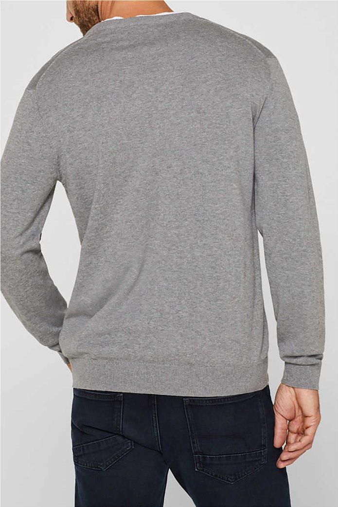 Esprit ανδρική μπλούζα πλεκτή μονόχρωμη 1