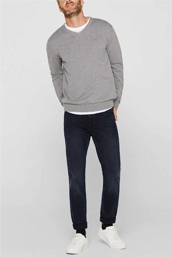 Esprit ανδρική μπλούζα πλεκτή μονόχρωμη 2