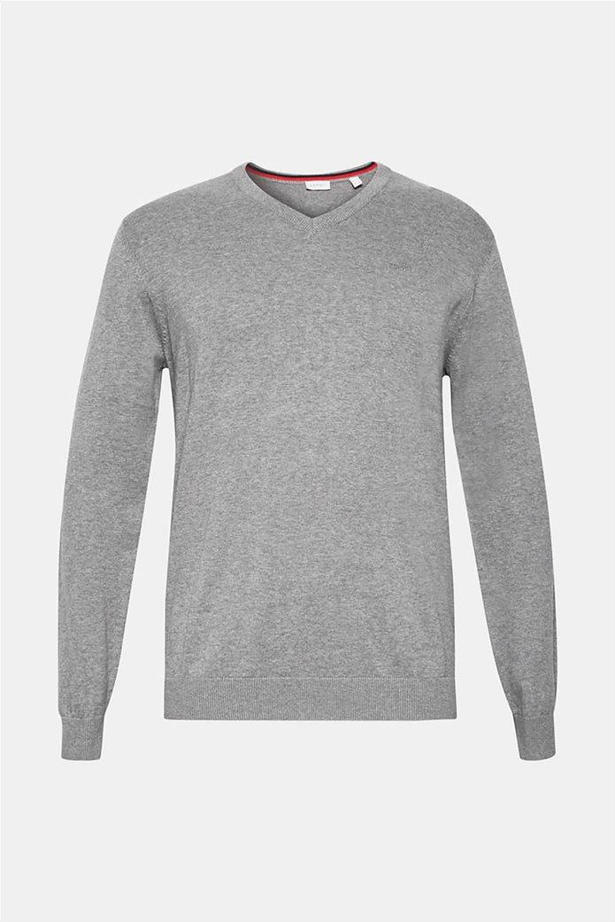 Esprit ανδρική μπλούζα πλεκτή μονόχρωμη 4