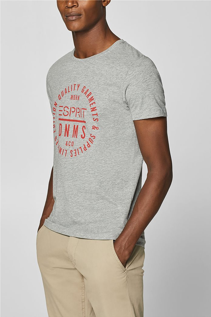 Esprit ανδρικό T-shirt με letter print σε διαφορετικό χρώμα 0