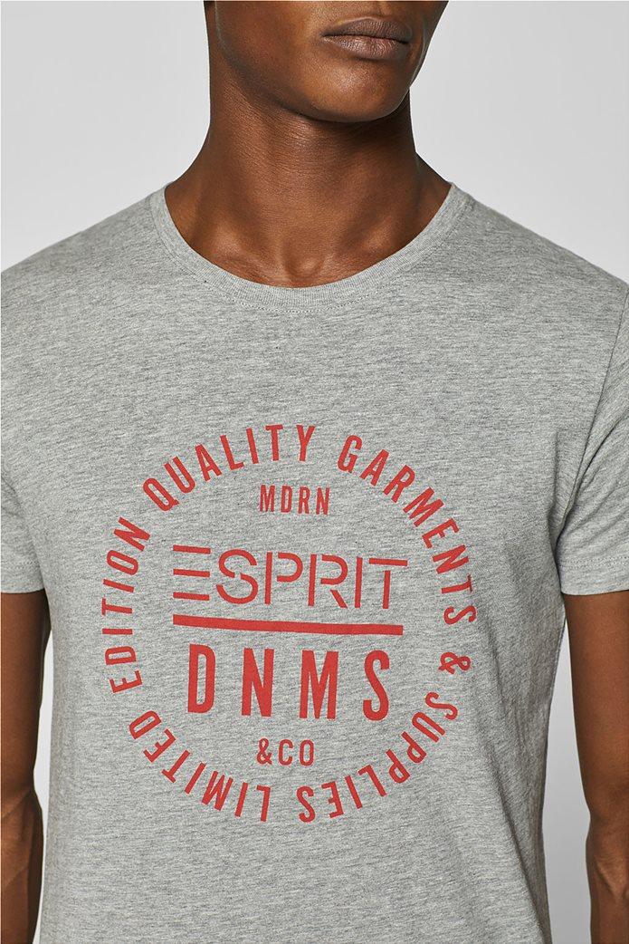 Esprit ανδρικό T-shirt με letter print σε διαφορετικό χρώμα 1