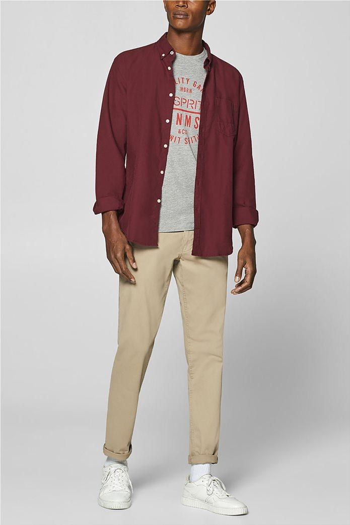 Esprit ανδρικό T-shirt με letter print σε διαφορετικό χρώμα 2
