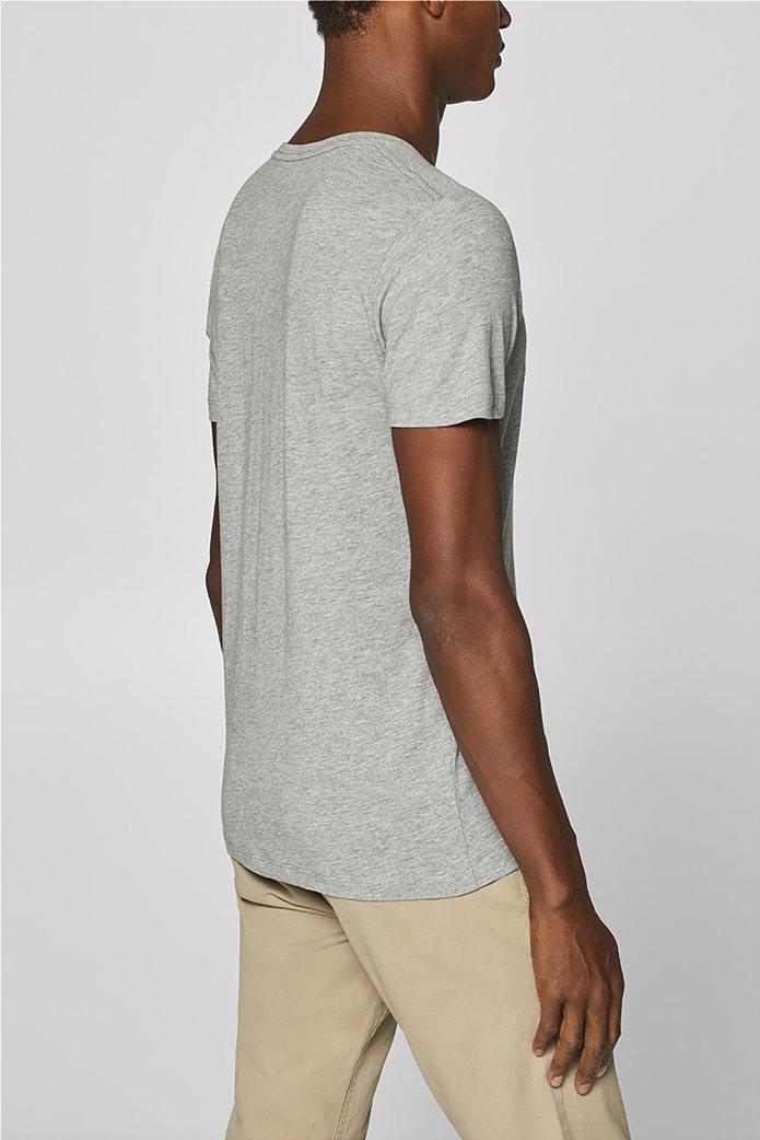 Esprit ανδρικό T-shirt με letter print σε διαφορετικό χρώμα 3