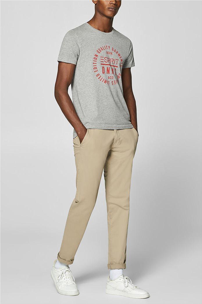 Esprit ανδρικό T-shirt με letter print σε διαφορετικό χρώμα 4