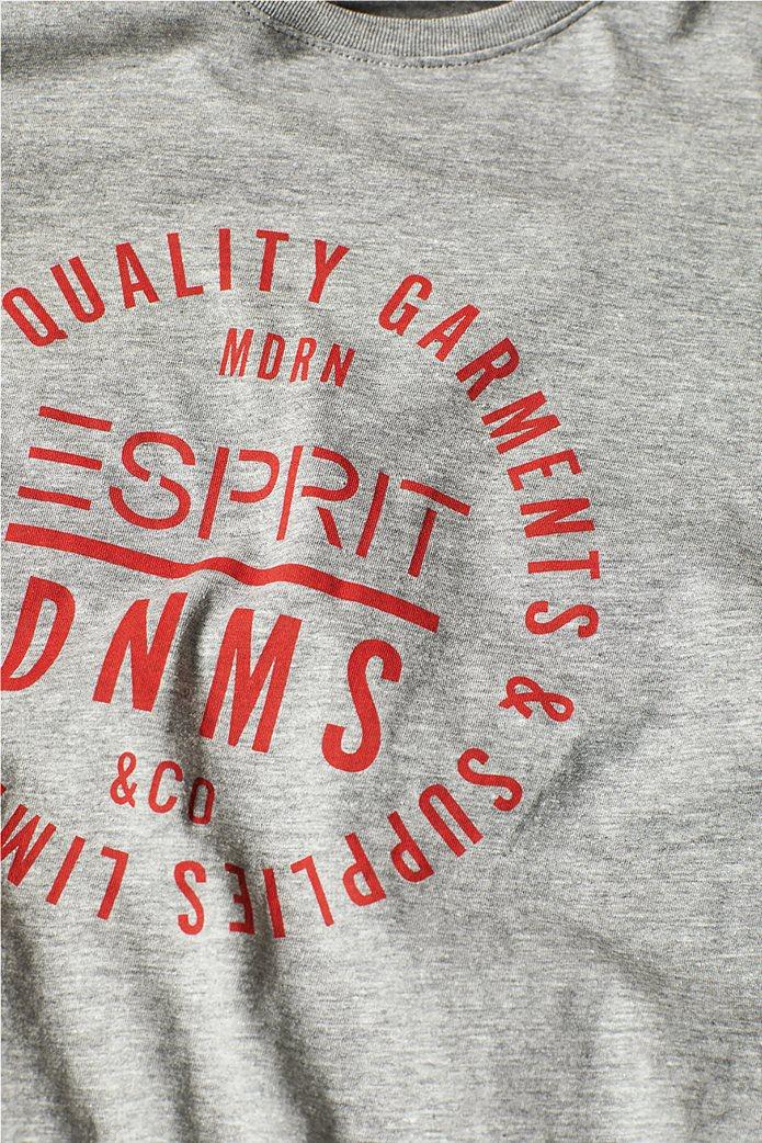 Esprit ανδρικό T-shirt με letter print σε διαφορετικό χρώμα 5