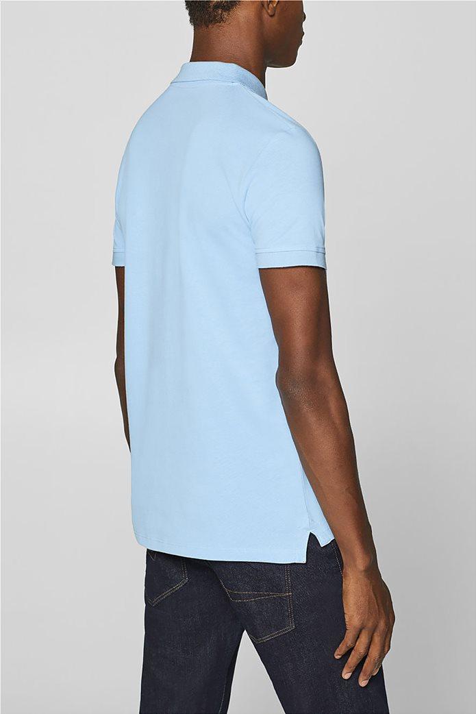 Esprit ανδρική πικέ μπλούζα πόλο μονόχρωμη Slim fit 3
