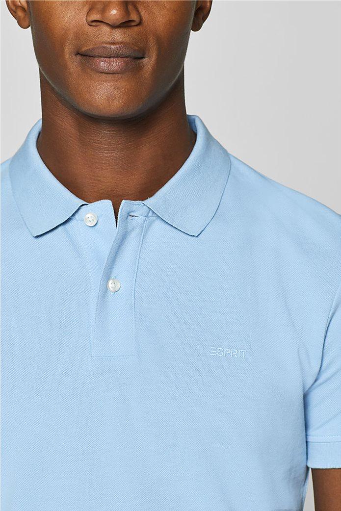 Esprit ανδρική πικέ μπλούζα πόλο μονόχρωμη Slim fit 6