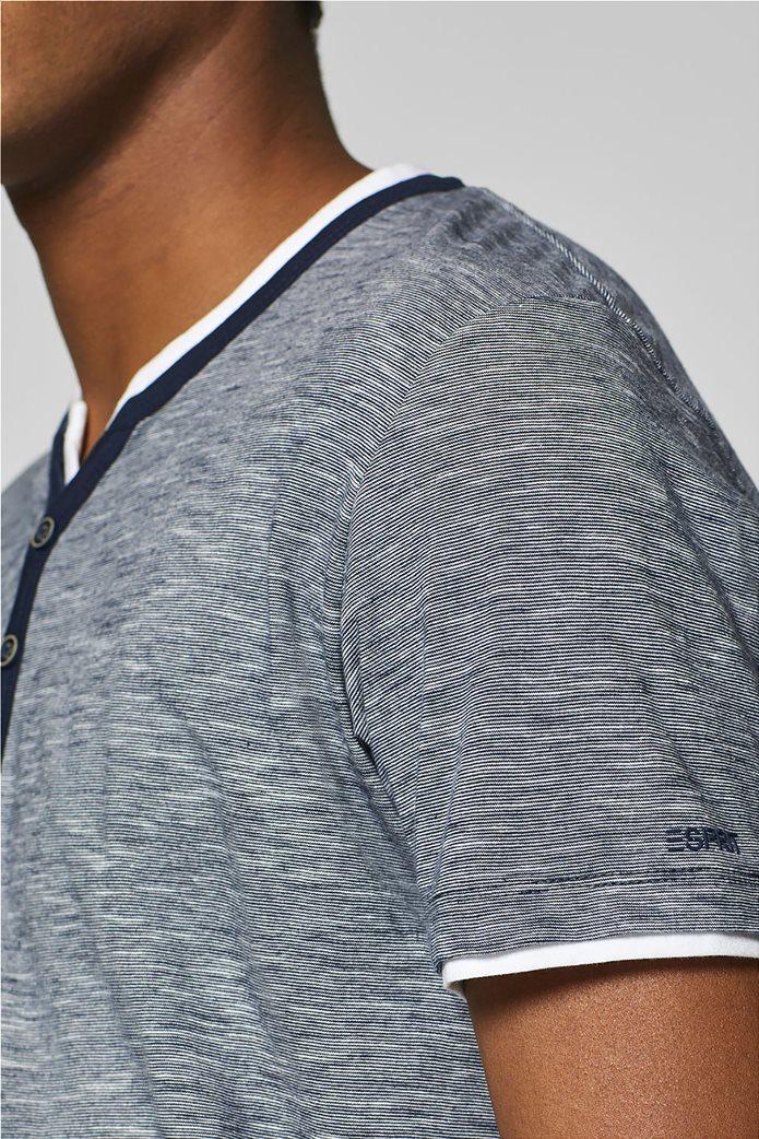 Esprit ανδρική ριγέ μπλούζα με layer 1