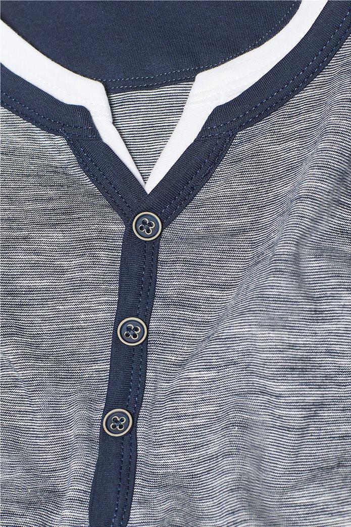Esprit ανδρική ριγέ μπλούζα με layer 4