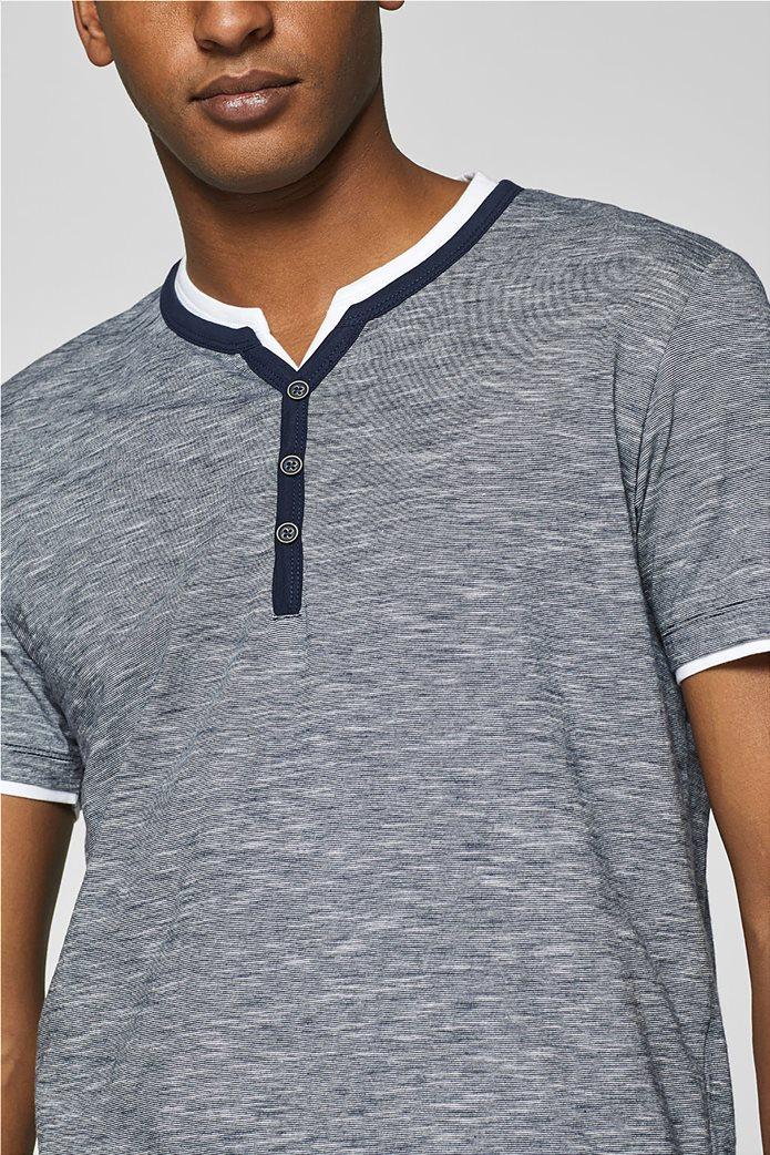 Esprit ανδρική ριγέ μπλούζα με layer 5