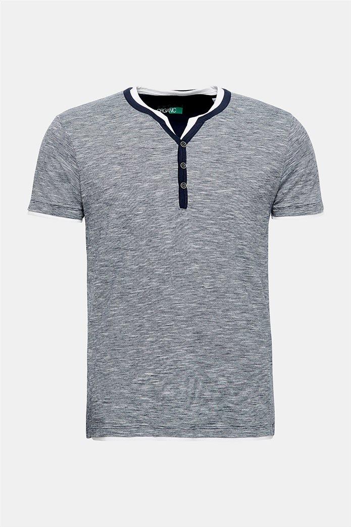 Esprit ανδρική ριγέ μπλούζα με layer 6