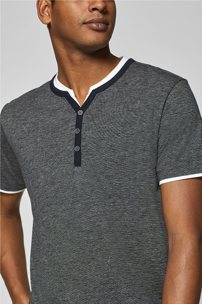 Esprit ανδρική μπλούζα με λεπτή ρίγα και layer 1