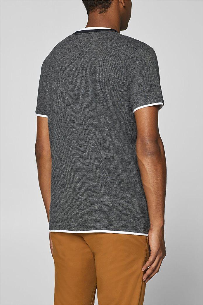 Esprit ανδρική μπλούζα με λεπτή ρίγα και layer 3
