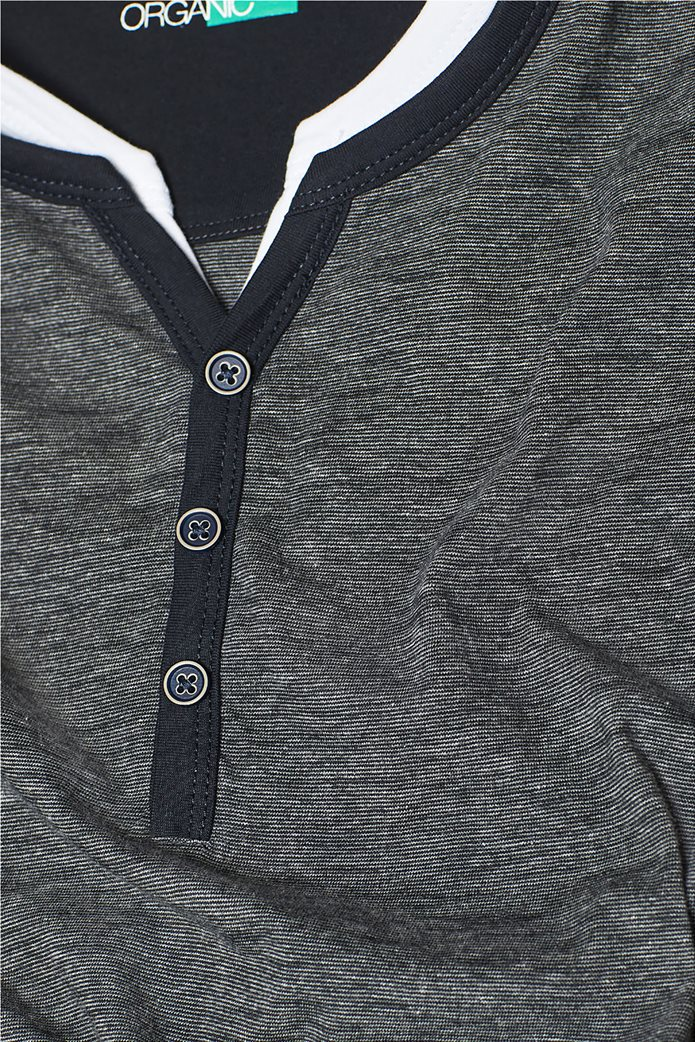Esprit ανδρική μπλούζα με λεπτή ρίγα και layer 4