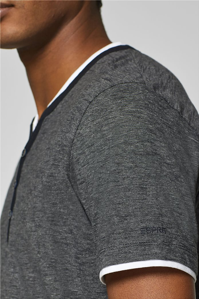 Esprit ανδρική μπλούζα με λεπτή ρίγα και layer 5