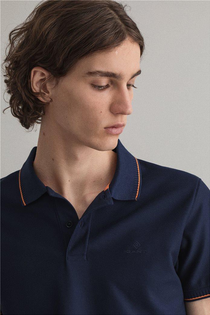 Gant ανδρική πόλο μπλούζα με ριγέ λεπτομέρειες Slim Fit 2