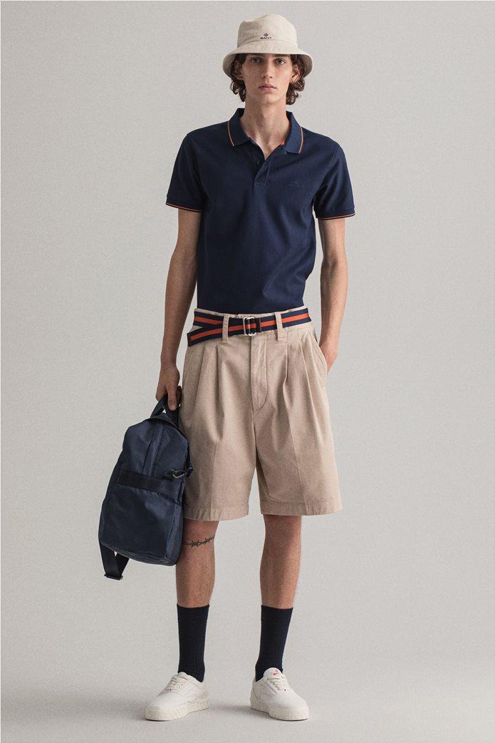 Gant ανδρική πόλο μπλούζα με ριγέ λεπτομέρειες Slim Fit 3