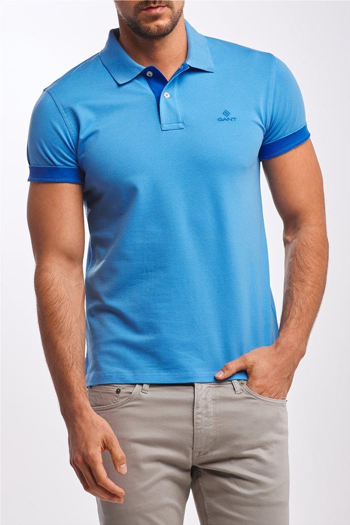 Gant ανδρική  πόλο μπλούζα με κεντημένο logo 0