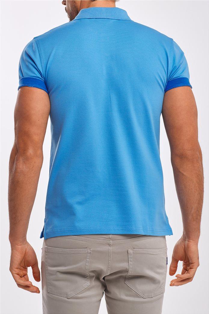 Gant ανδρική  πόλο μπλούζα με κεντημένο logo 2