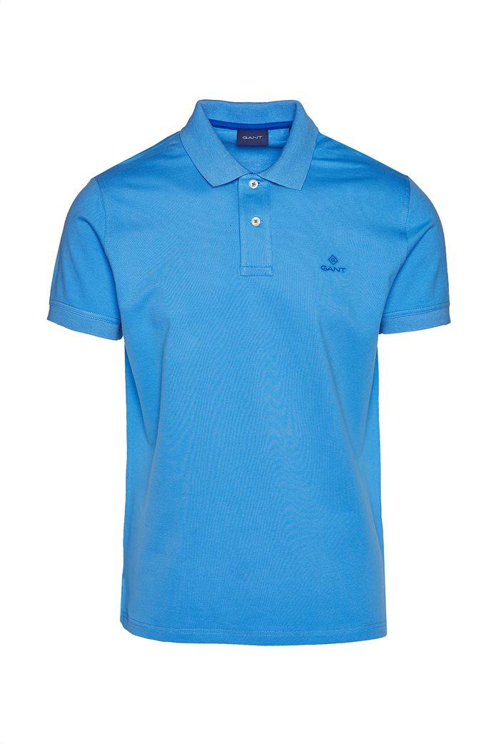 Gant ανδρική  πόλο μπλούζα με κεντημένο logo 3