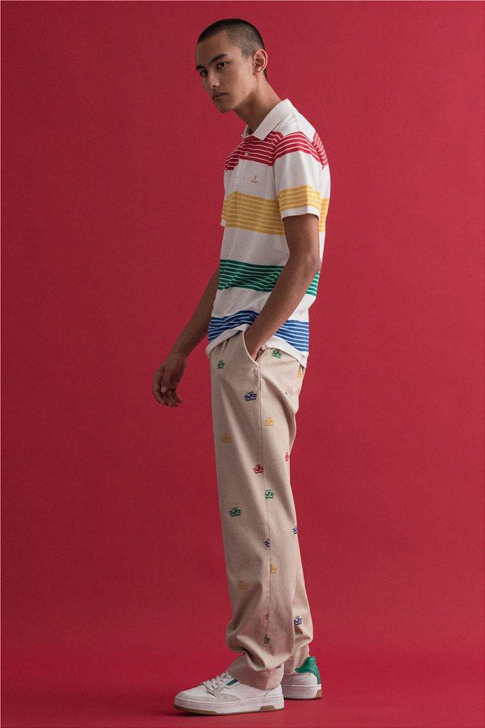 Gant ανδρική πόλο μπλούζα πικέ με ριγέ σχέδιο 3